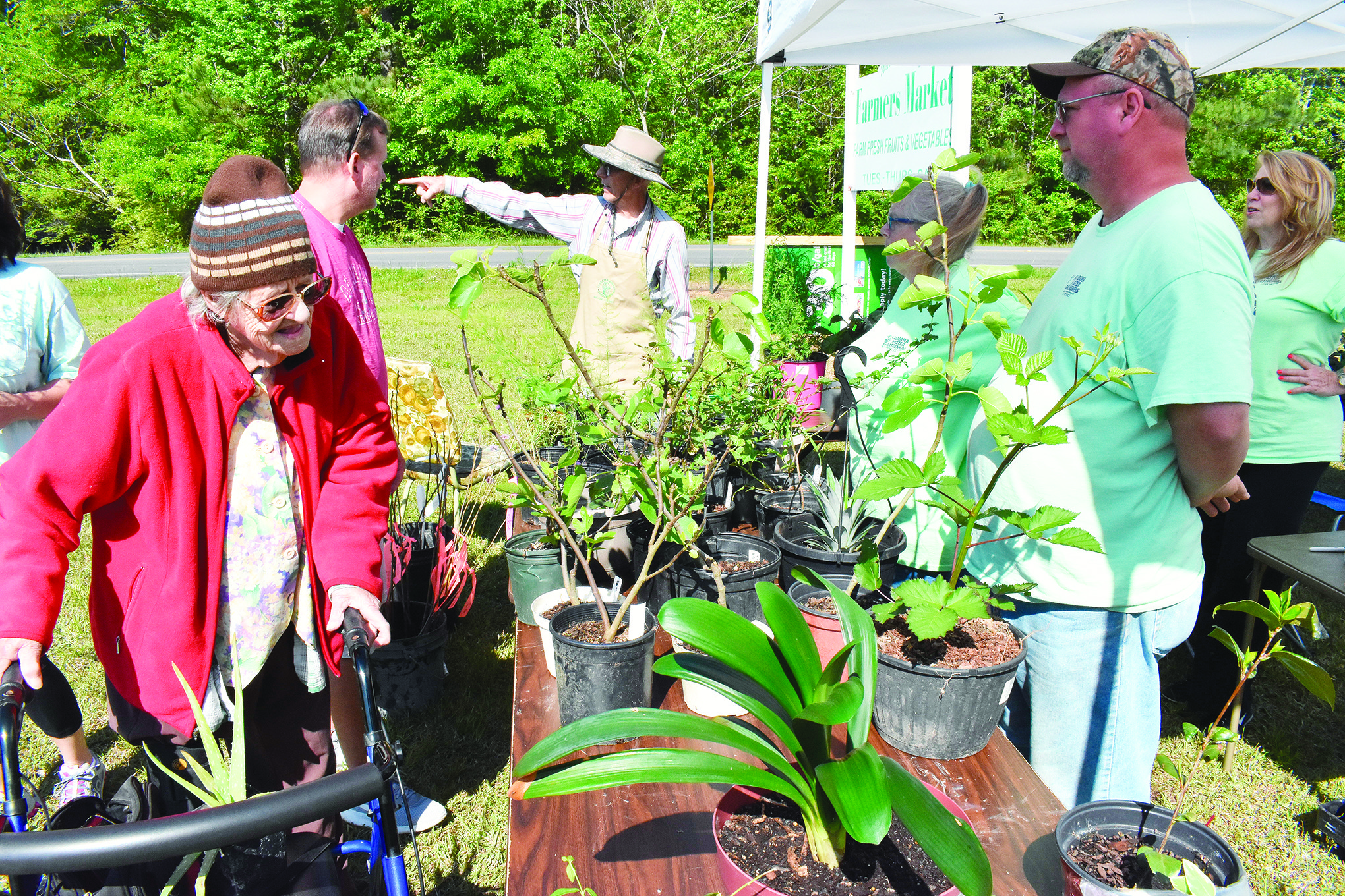 Walker County Master Gardeners held their annual plant sale Saturday morning at the Walker County Farmer's Market on North Airport Road in Jasper. Vegetable and fruit plants, perennials, houseplants, succulents, shrubs and more were available for sale, attracting a number of potential buyers.