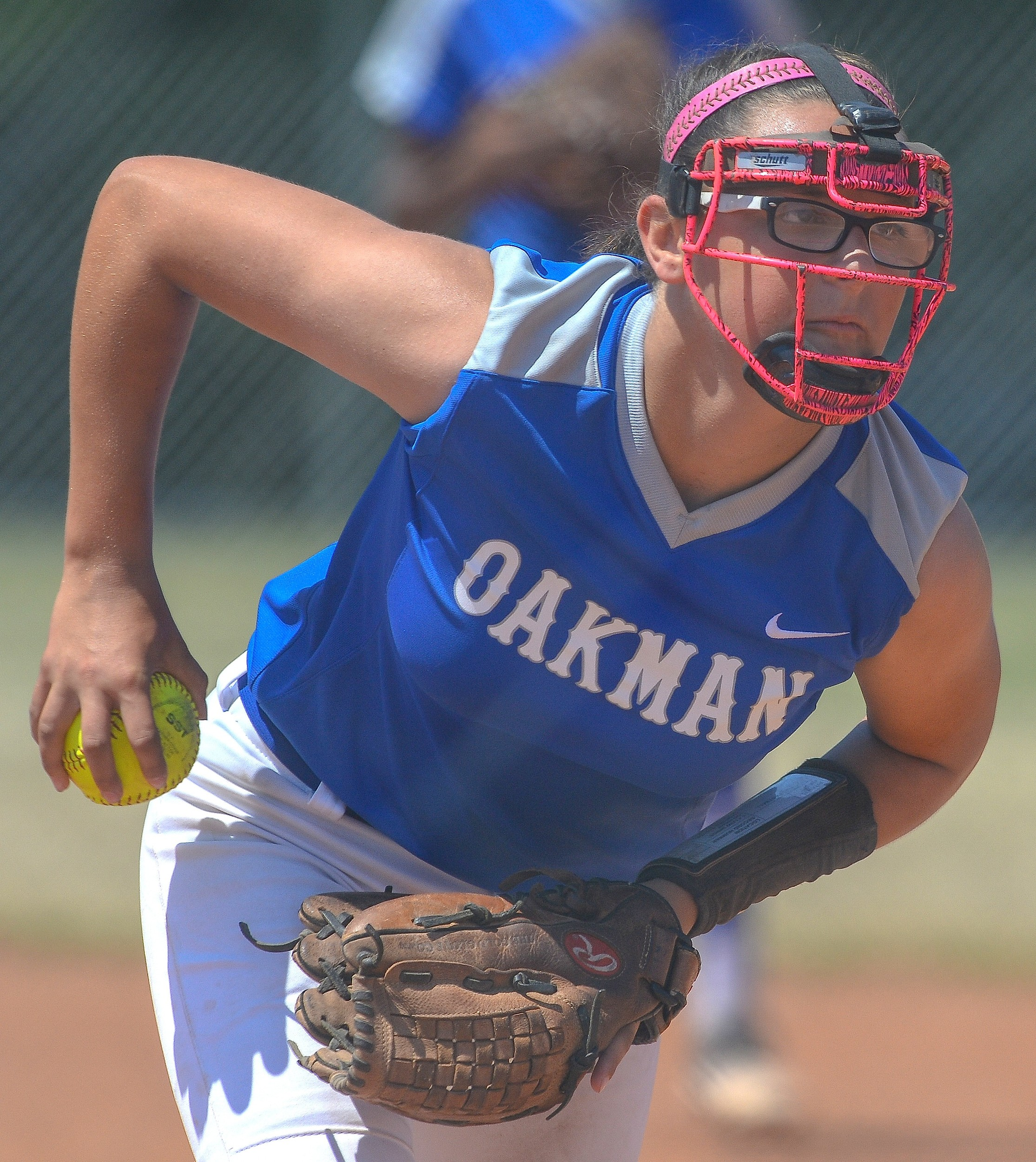 Oakman pitcher Jesse Aston pitches against Pleasant Valley during the Wildcats' regional opener. Carbon?Hill faces Oakman in an elimination game at 9 a.m. today.