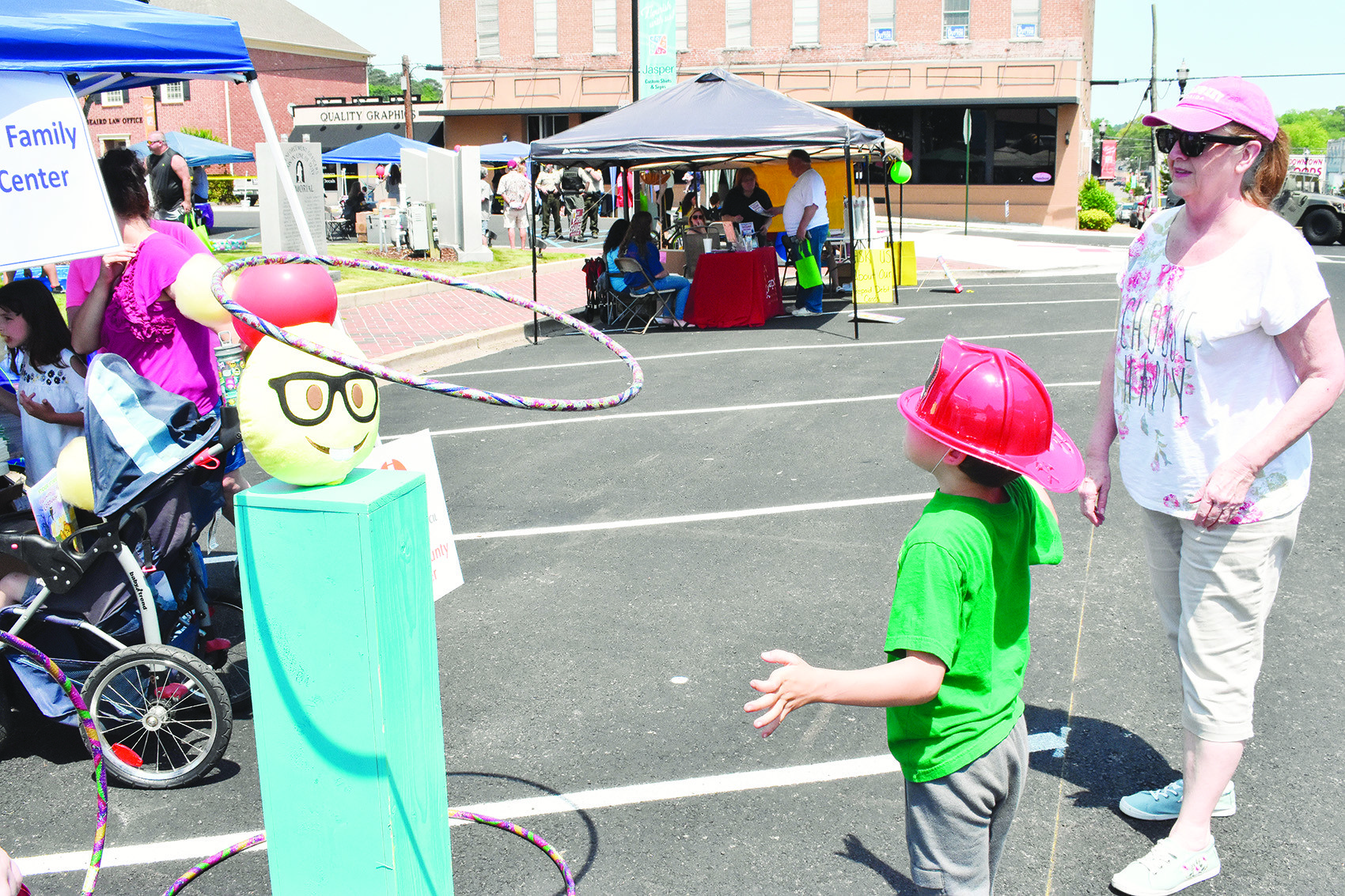 Children enjoyed games, food and other treats under clear, hot skies Saturday afternoon in downtown Jasper as the Walker County Advocacy Center and the Walker Area Community Foundation hosted its fourth annual Safe Kids Expo, which was postponed from last month due to bad weather.