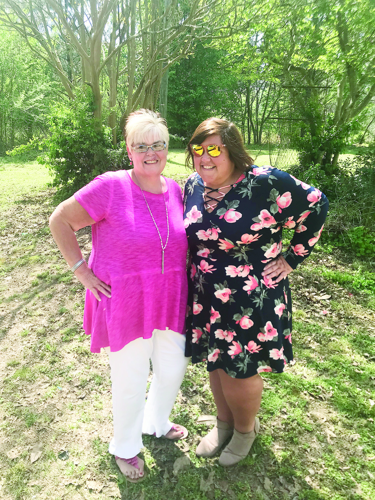 Jennifer Kaufman of Sumiton, at right, and her mom, Shelley Kaufman, have each lost over 100 pounds since adopting a low-carb diet. Jennifer Kaufman's recent weight loss has given her the freedom to try new experiences like hiking and kayaking.