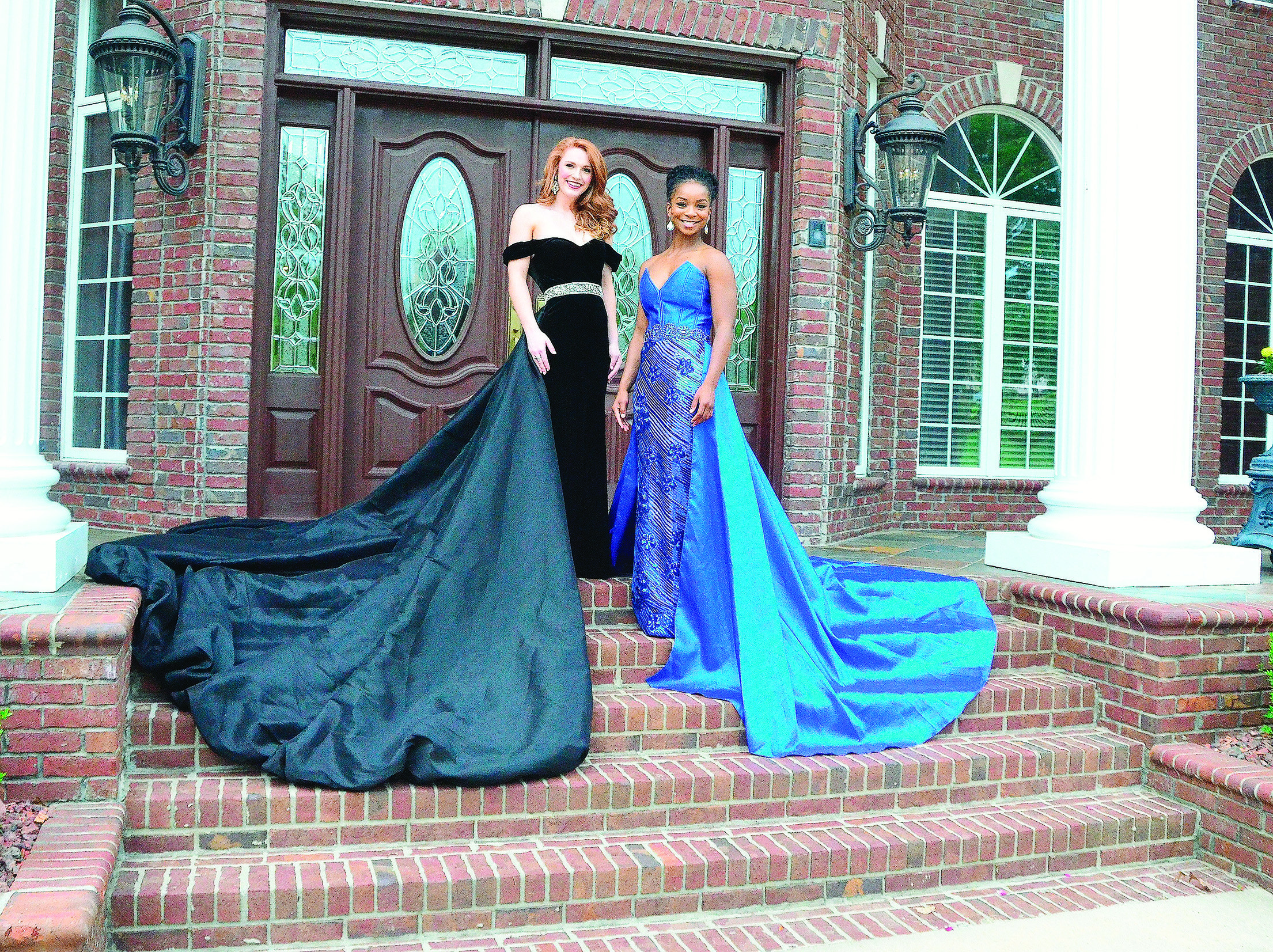 Miss Walker County Chassidy Sumler, at right, and Miss Heart of Dixie Reagan Handley, at left, leave today to begin competing in this year's Miss Alabama Pageant at Samford University in Homewood. Here are a few of the things they will wear during the competition. For more photos, see B4 of today's Eagle.