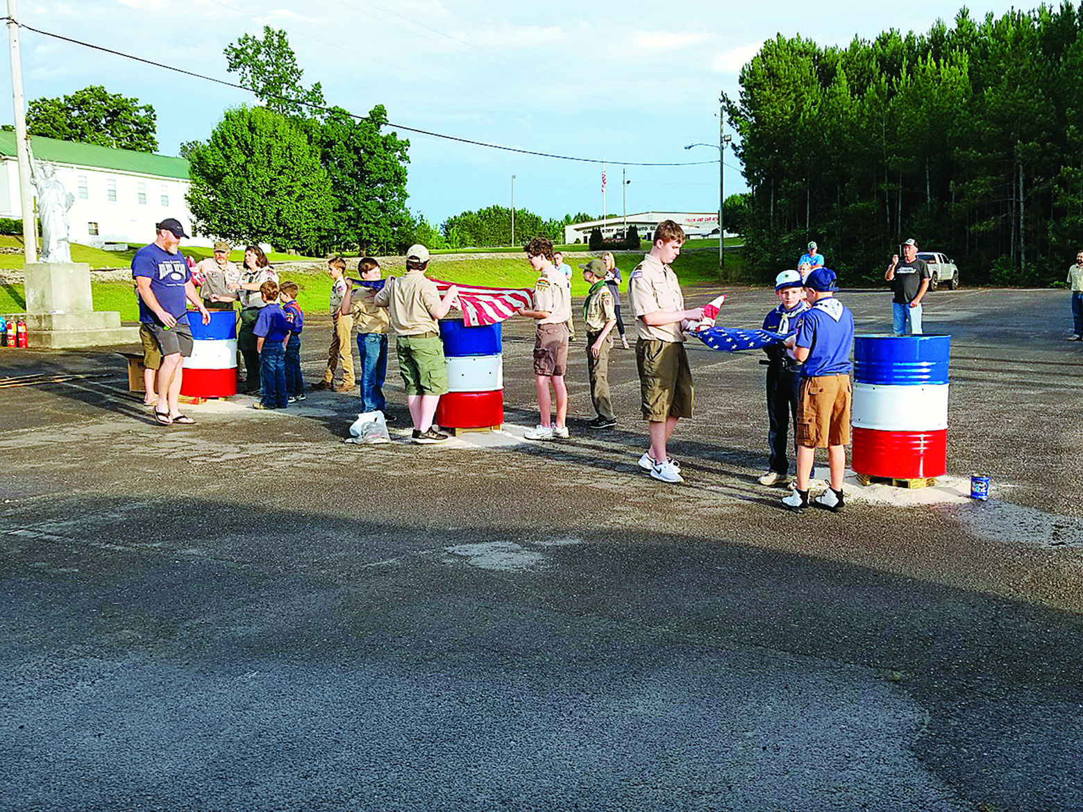 Scout Pack 126 in Jasper hosted a Flag Day flag retirement ceremony Tuesday at 6 p.m. in the VFW Post 4850 parking lot in Jasper.