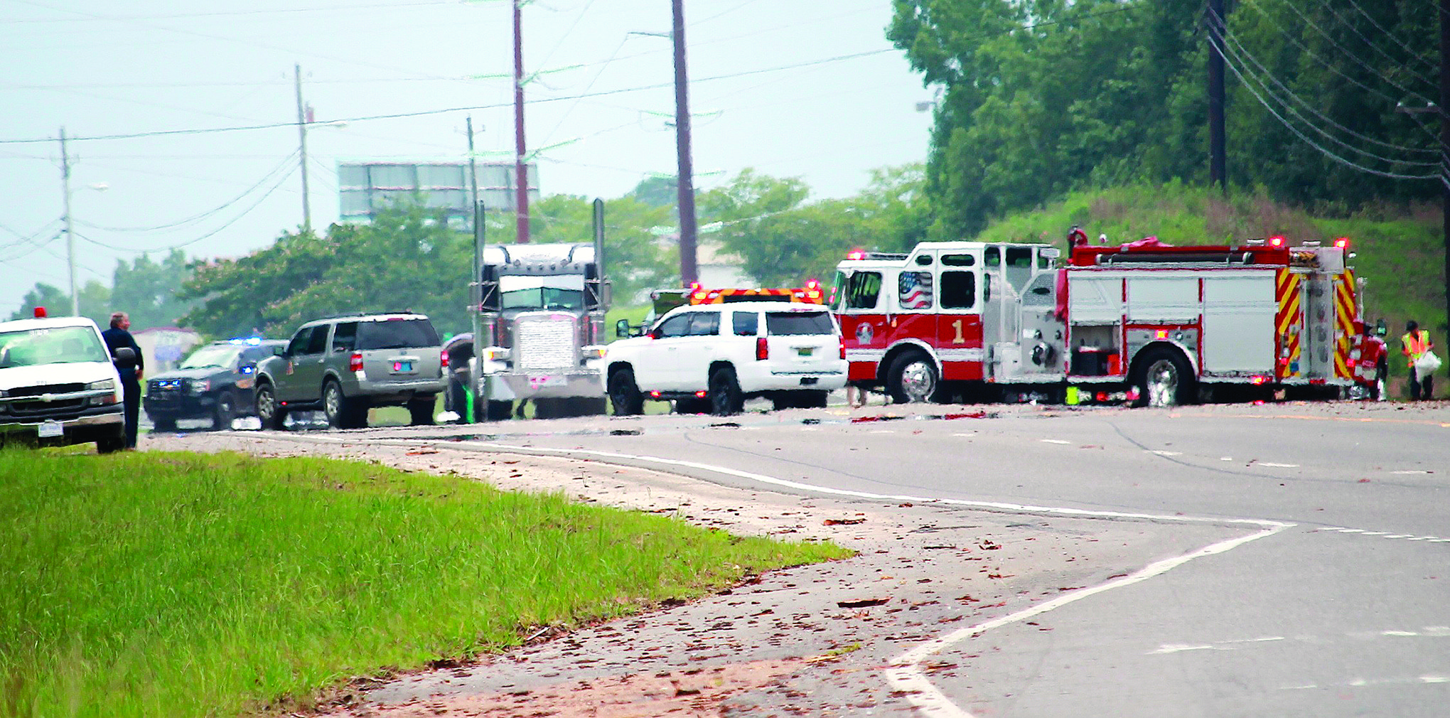 A portion of Highway 78 West was closed for around two hours Wednesday as responders cleaned up a fuel spill.