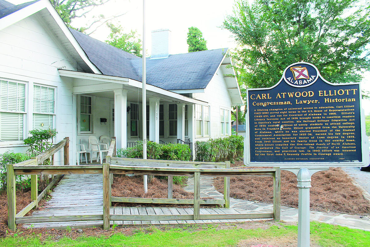 The Carl Elliott House Museum will be open Saturday from 10 a.m. to 2 p.m. during the Foothills Festival.