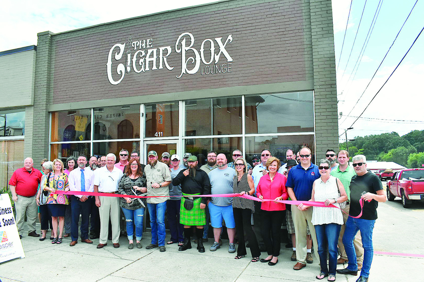 Shawn Doss, the owner of The Cigar Box, on Tuesday has a ribbon-cutting ceremony for the cigar store and cigar lounge in downtown Jasper.