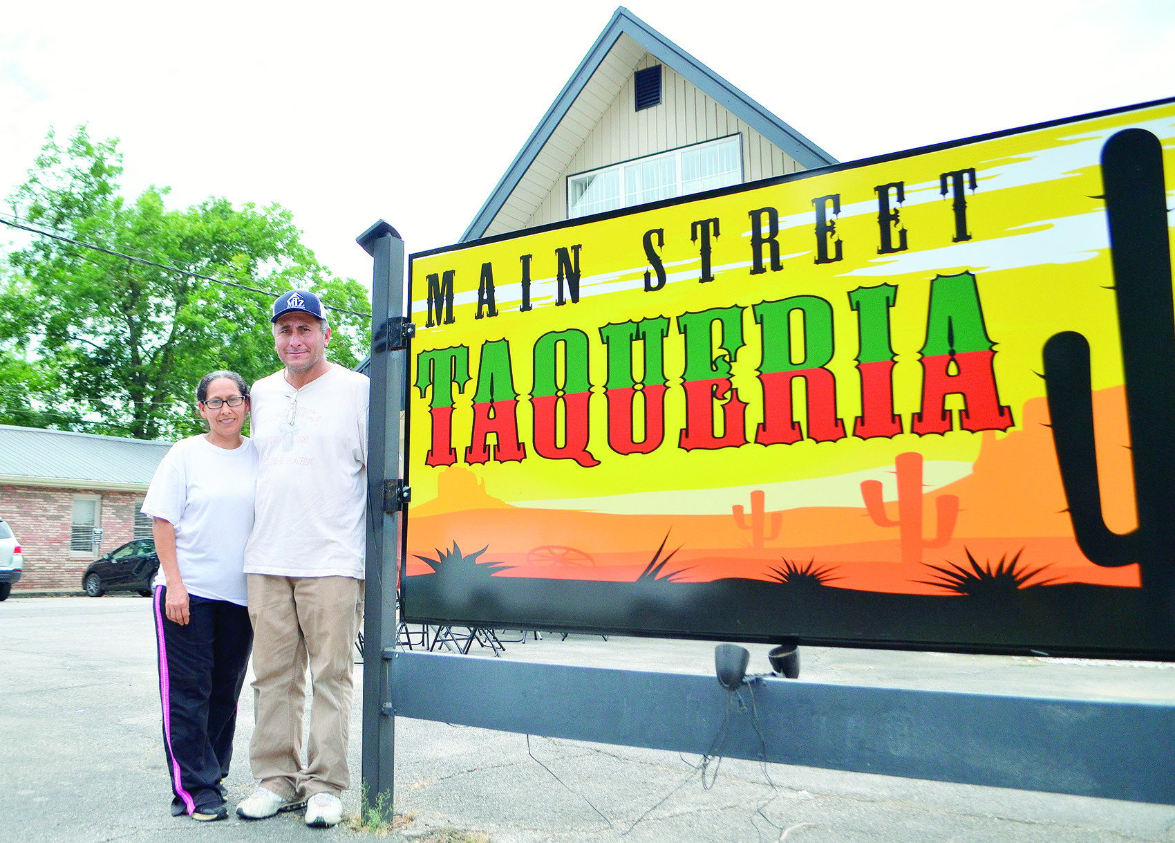 Saul and Maria Martinez have achieved their dream of opening a restaurant. Main Street Taqueria opened last Thursday to a steady stream of customers.
