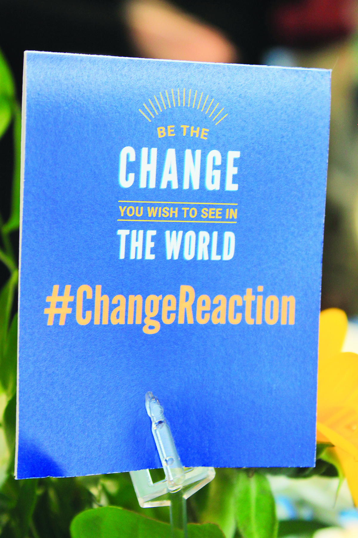 "The theme for the current United Way of Central Alabama campaign is ""Be the Change."""