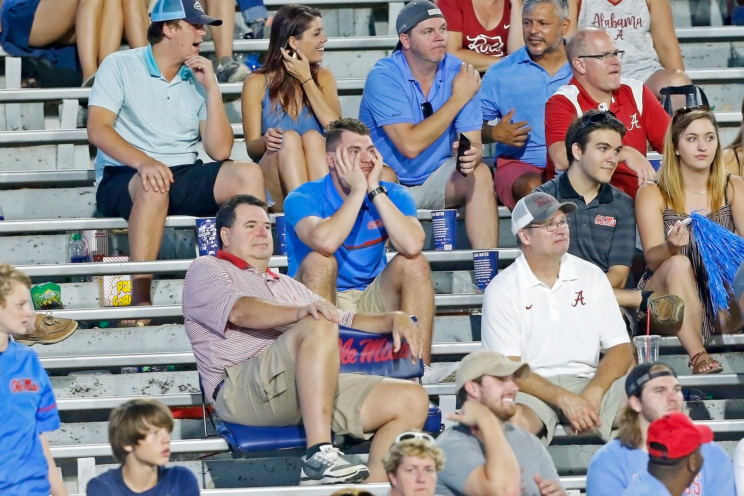 There was little for the Mississippi Rebels fans to cheer for after the first half game between the University of Alabama and Ole Miss at Vaught-Hemingway Stadium. Jason Clark / Daily Mountain Eagle