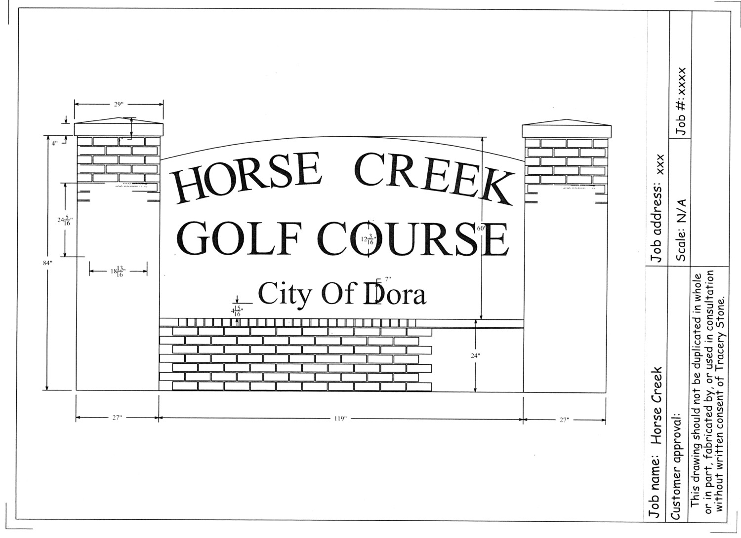 This is a rendering of the new sign for Horse Creek Golf Course.
