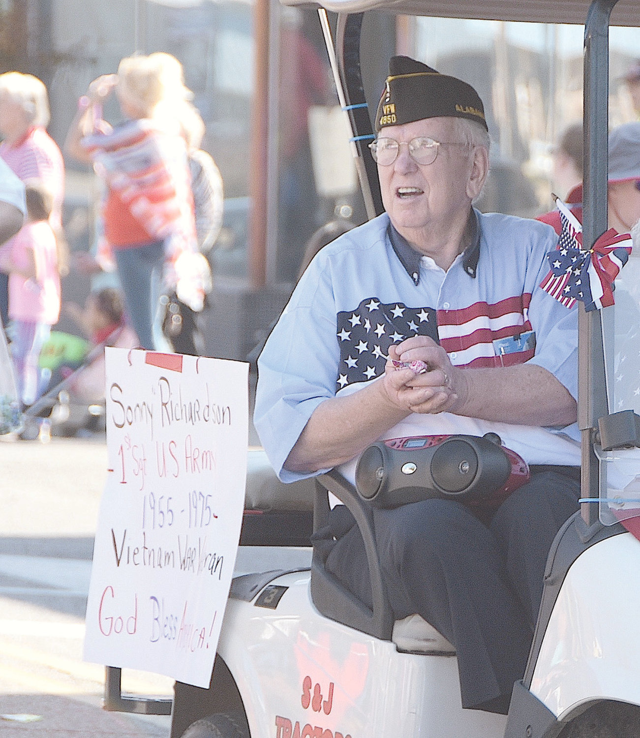Longtime Walker County Veterans Affairs officer Sonny Richardson was part of last year's Veterans Day Parade in downtown Jasper.