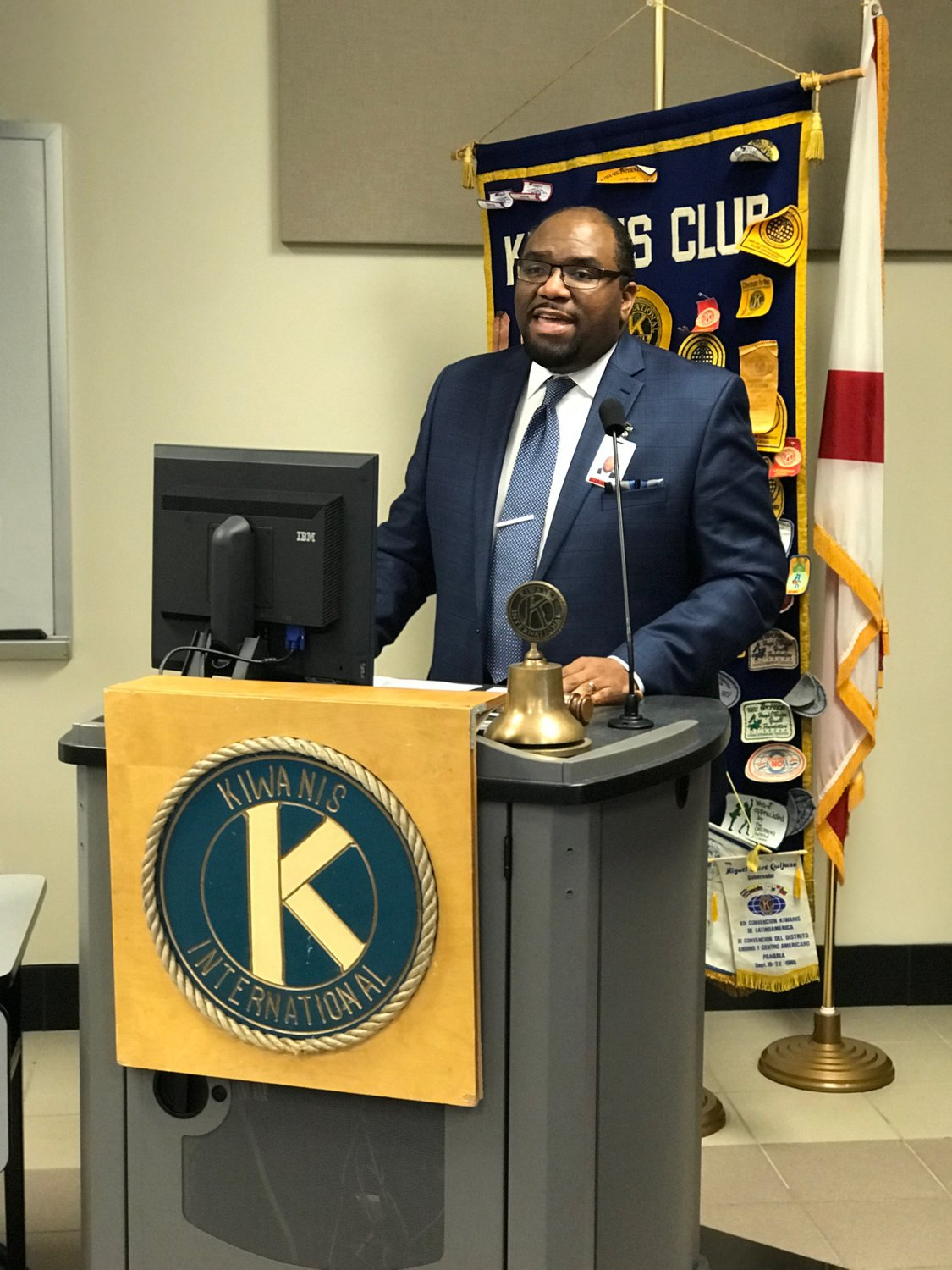 Bevill State's Al Moore spoke to the Kiwanis Club of Jasper on Monday. More was recently named dean of workforce solutions and economic development.