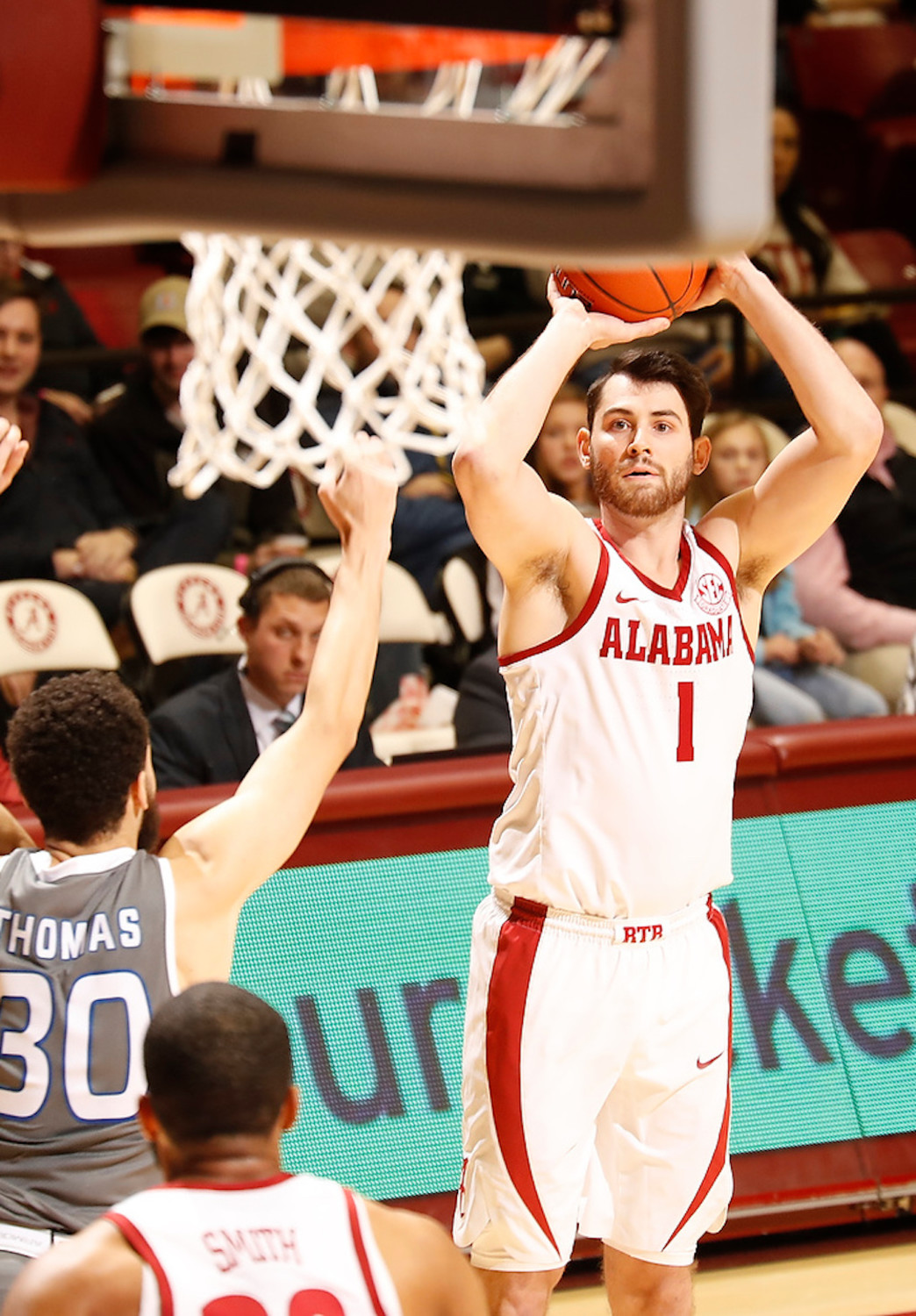 Alabama's Riley Norris shoots against Georgia State during their game Tuesday night at Coleman Coliseum in Tuscaloosa.