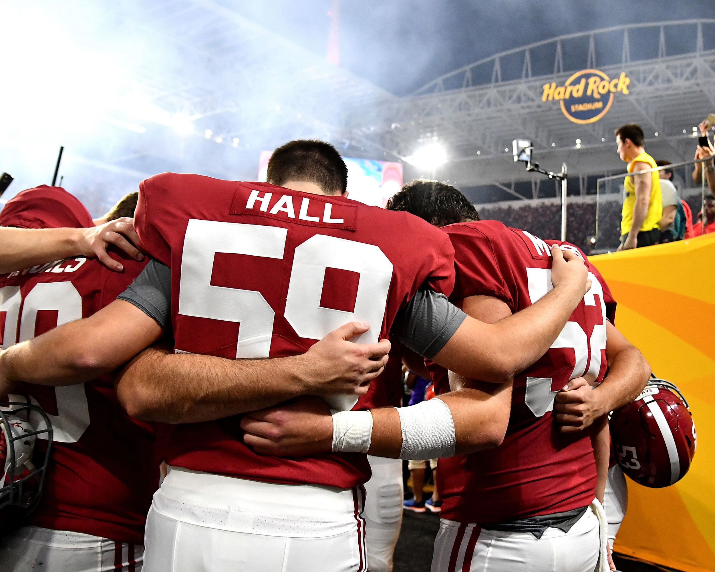 Prior to the kickoff of the Capital One Orange Bowl, featuring the Alabama Crimson Tide and the Oklahoma Sooners, at Hard Rock Stadium in Miami Gardens, Fla., Saturday, Dec. 29, 2018. Alabama wins 45-34. (Photo by Lee Walls)