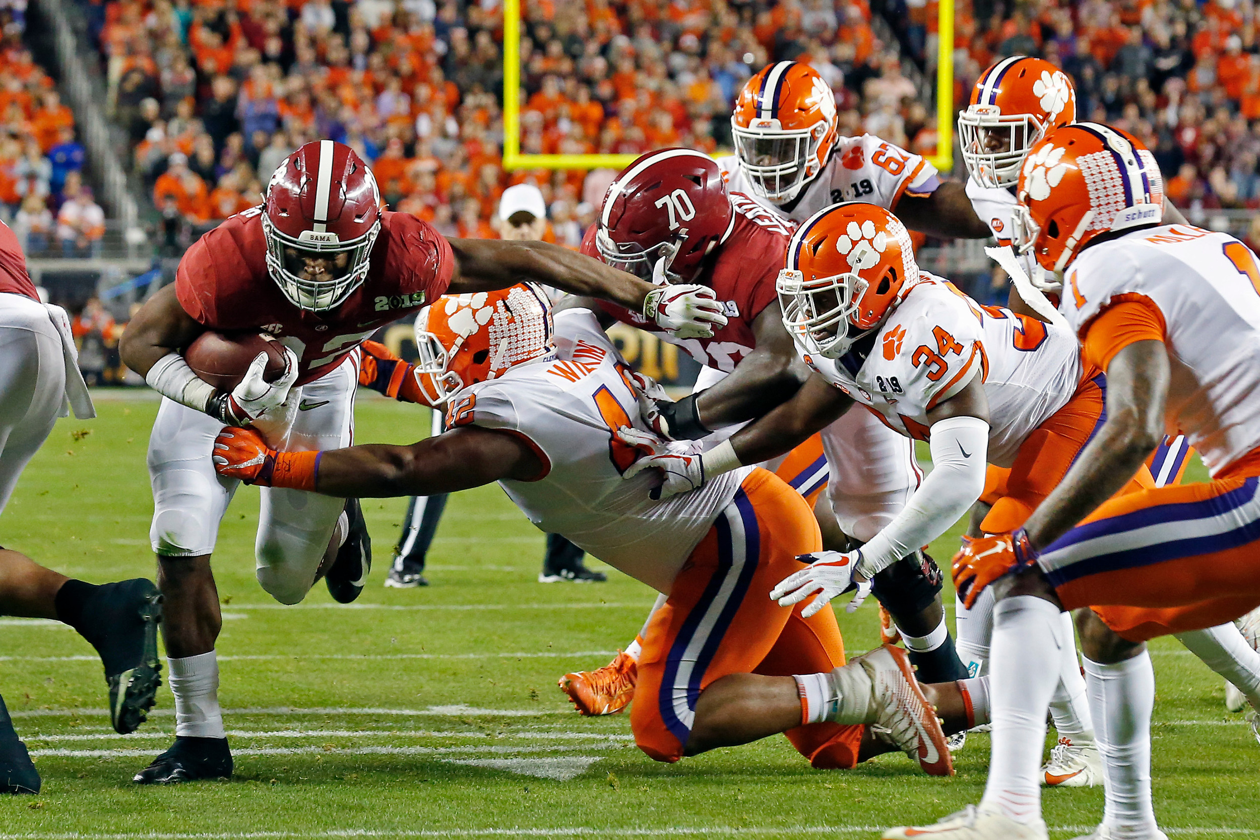 Photo Gallery Cfp Championship No 2 Clemson 44 No 1