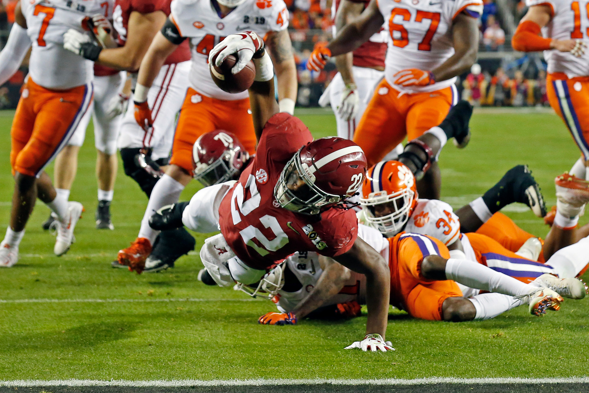 during the NCAA college football national championship game between Clemson University and the University of Alabama in Santa Clara, CA. Credit: Jason Clark / Daily Mountain Eagle