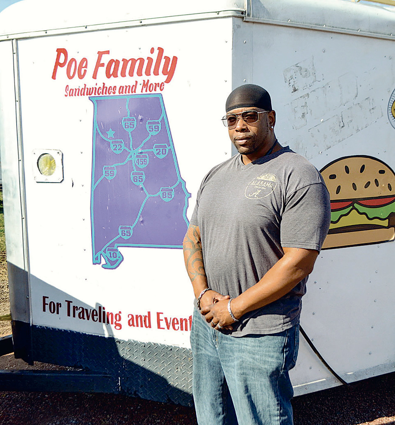 Freddy Poe recently started his food truck business in Jasper, serving Philly sandwiches, chicken wings, burgers and more.