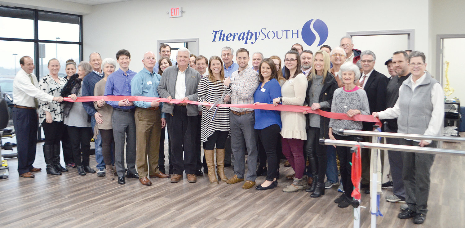 TherapySouth in Jasper hosted an open house and ribbon cutting last Wednesday. The new Jasper business, which opened in November, provides a number of services, such as orthopedic and post surgical rehabilitation, vestibular rehab, chronic pain management therapy and physical therapy for athletes. TherapySouth is located at 200 N. Airport Rd. in Jasper.  To inquire about therapy, call (205) 387-3266 or visit www.therapysouth.com.