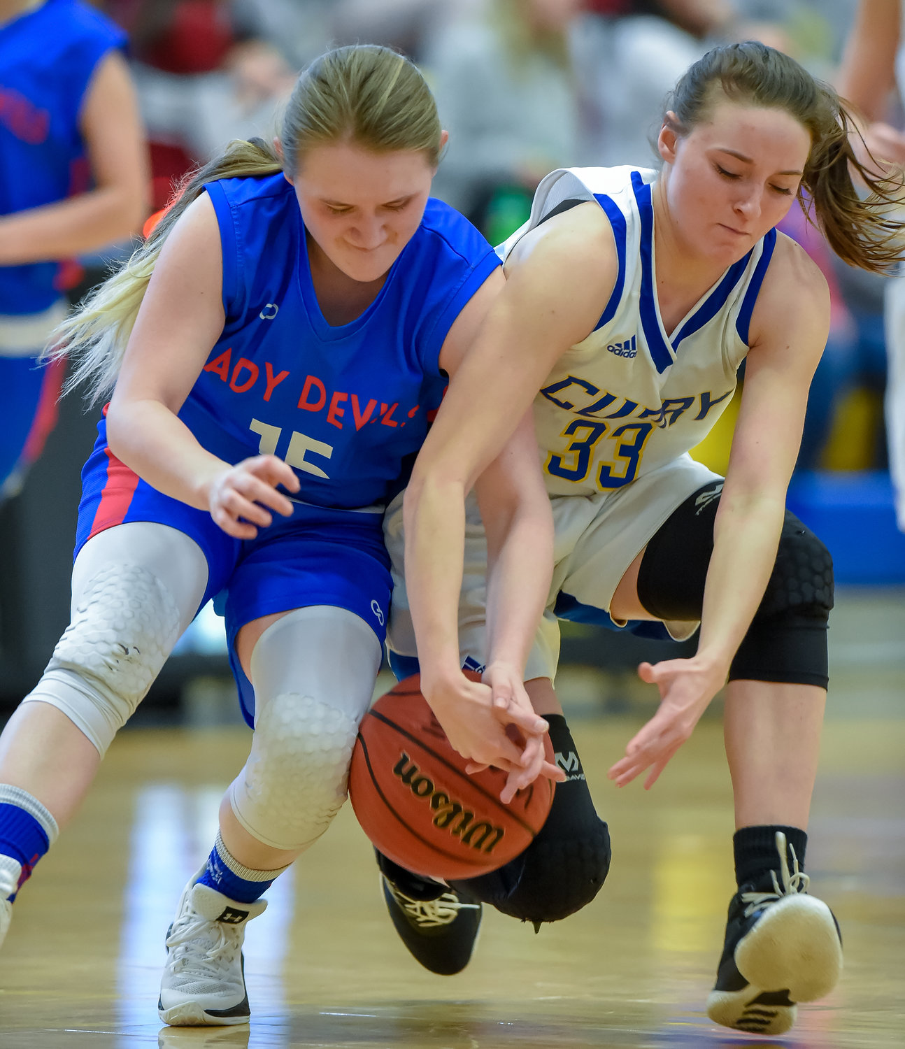 Curry's girls topped Cordova in the area opener on Tuesday.