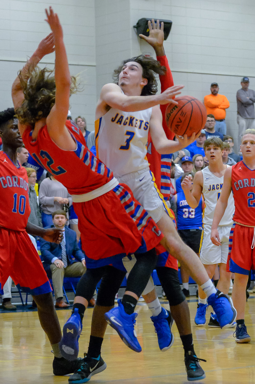 Curry's boys took down Cordova to earn a spot in Thursday's area tournament championship game against Halevyille.