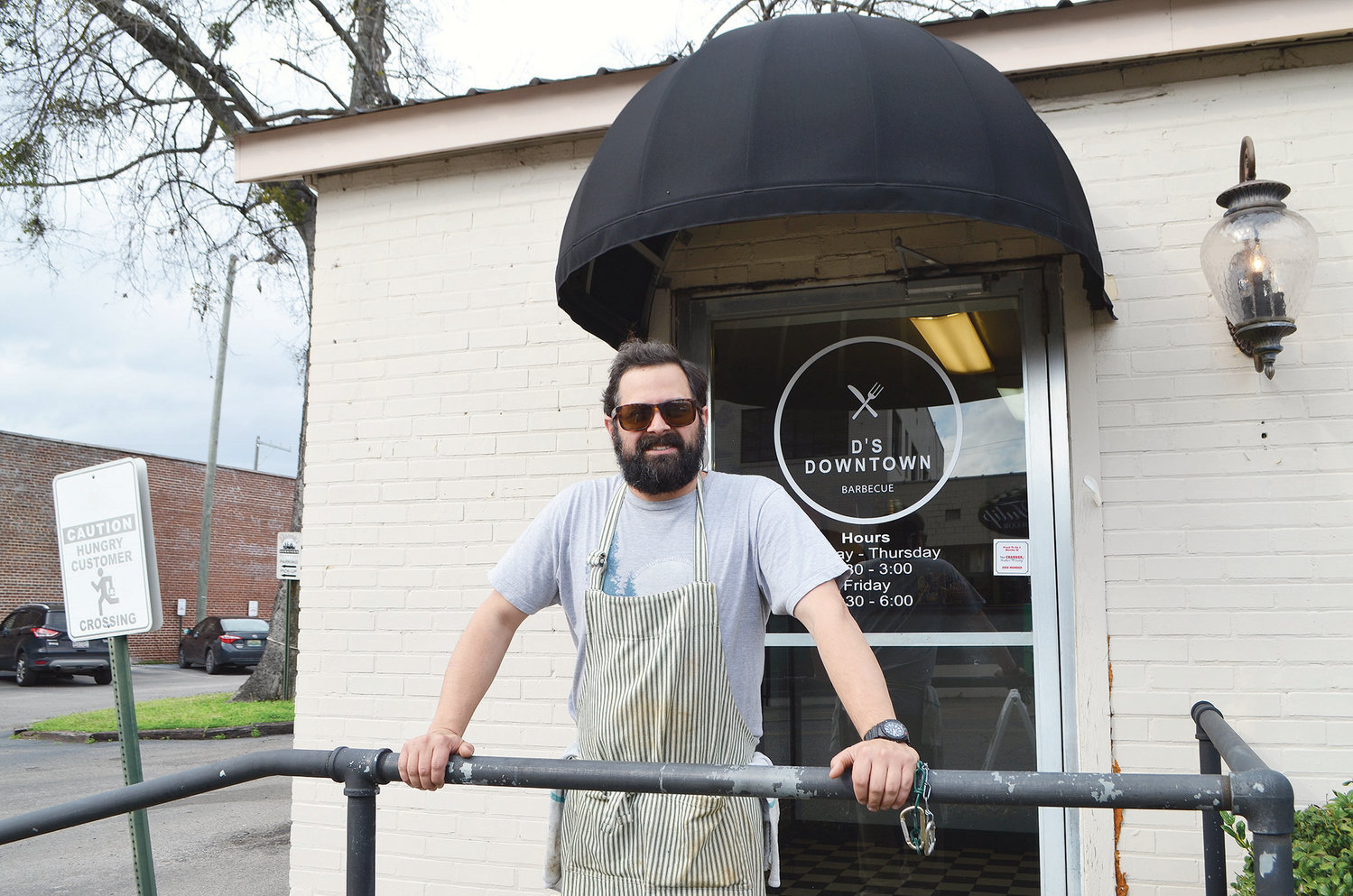 D's Downtown Barbecue owner Darren Hix stands outside his new restaurant in downtown Jasper.