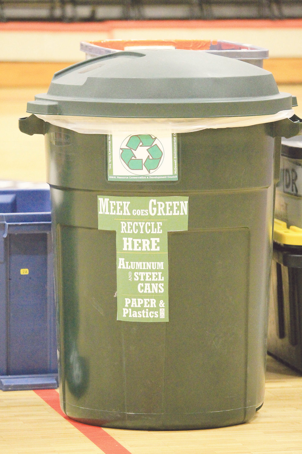 """Meek Goes Green"" is a recycling initiative that began at Meek elementary and high schools in January."