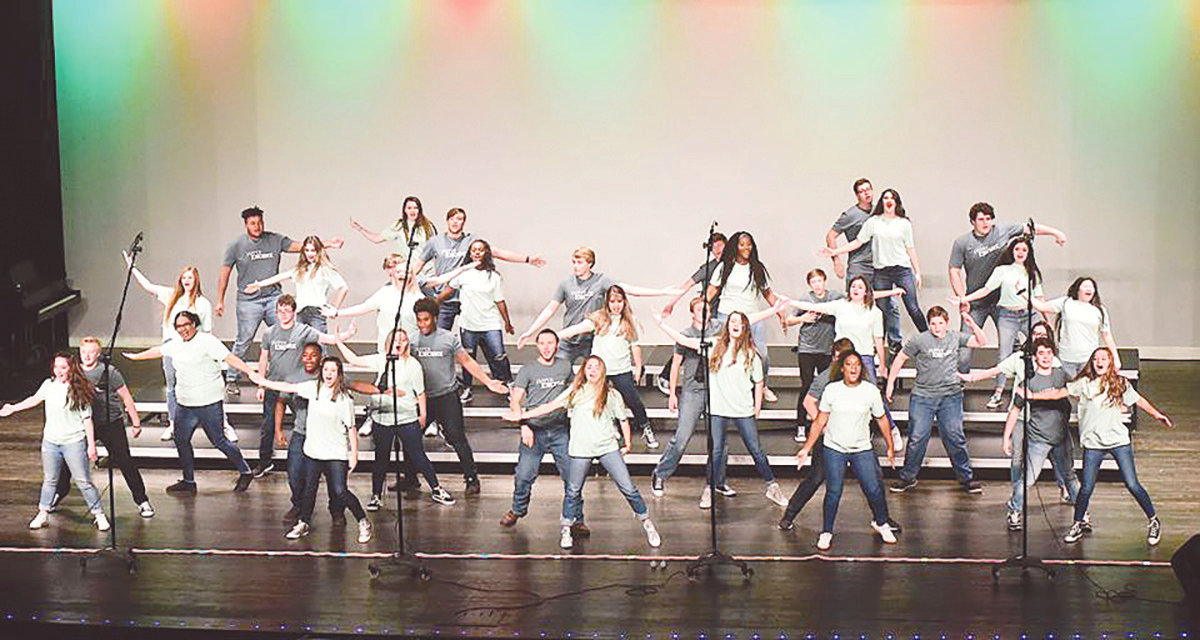 Pictured is Jasper High School's Encore show choir group performing this year. They will be competing, along with the high school's Diamonds group, in an event at the school.