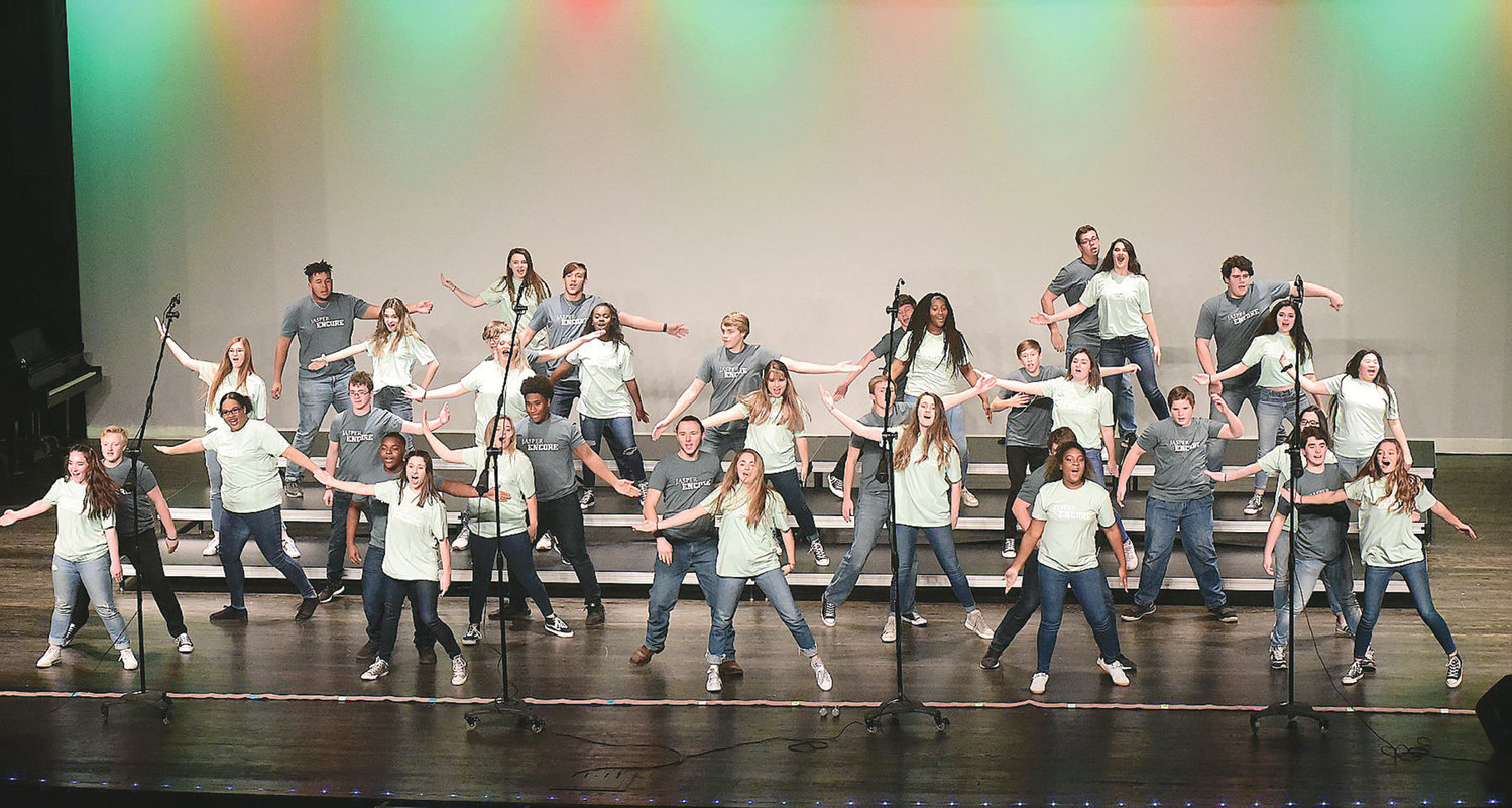 The Jasper Foothills Show Choir Classic kicks off today at Jasper High School to highlight show choir groups from Alabama and surrounding states. Encore, Jasper High's male and female choir, is scheduled to compete at 5:45 p.m. Saturday, while the high school's female-only show choir group, Diamonds, will perform at the end of Friday night's competition. Friday's competition will be from approximately 5 to 9:30 p.m., and Saturday's competition will begin bright and early at 8 a.m. and last until at least 10:45 p.m., with groups competing throughout the day. A ticket good to see both days of competition is $15.