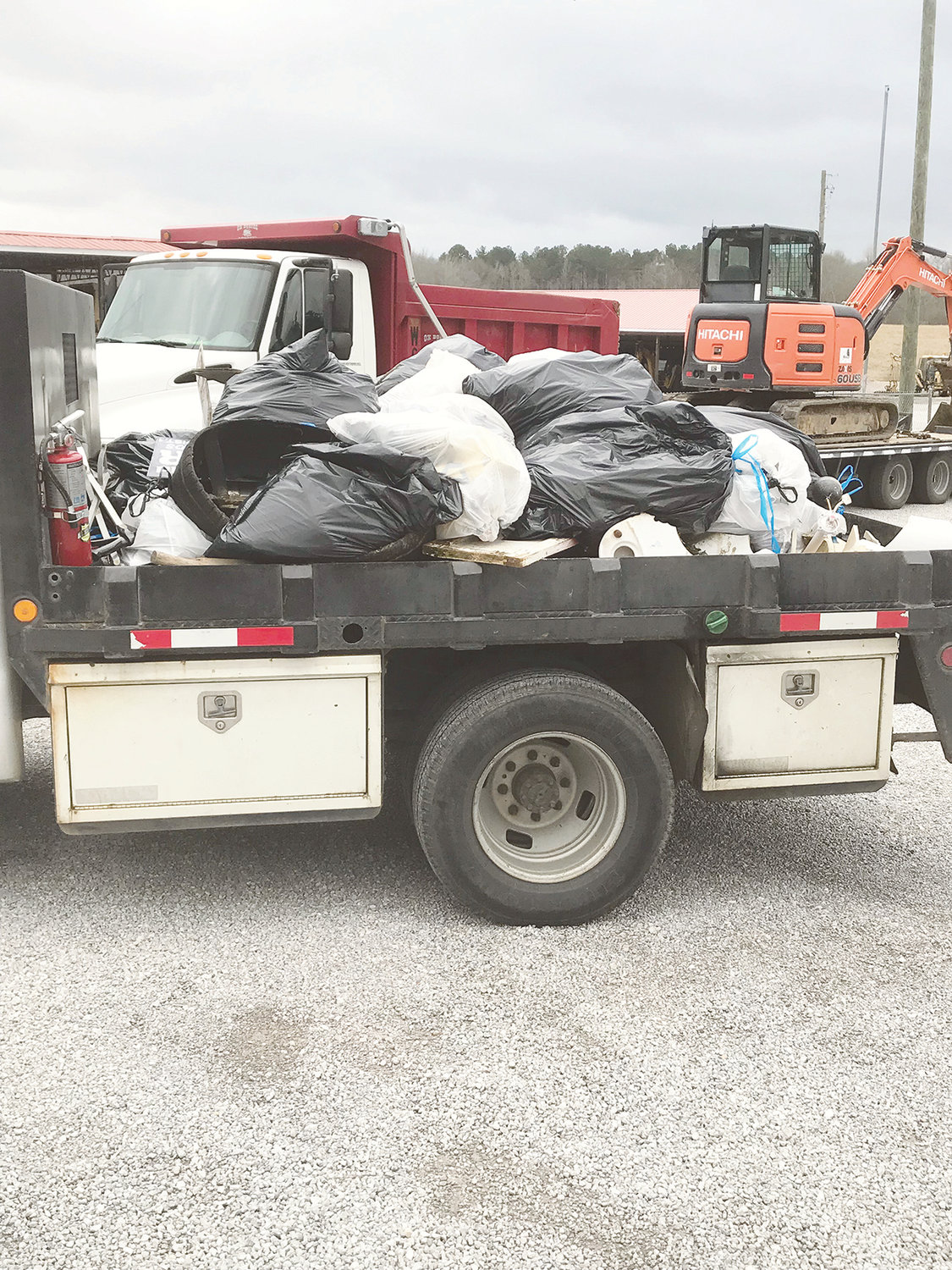 District 1 Walker County Commissioner Keith Davis provided this photo last week, showing how much litter was picked up by one of his district trucks in one day. Efforts are underway for the annual county litter cleanup in April.