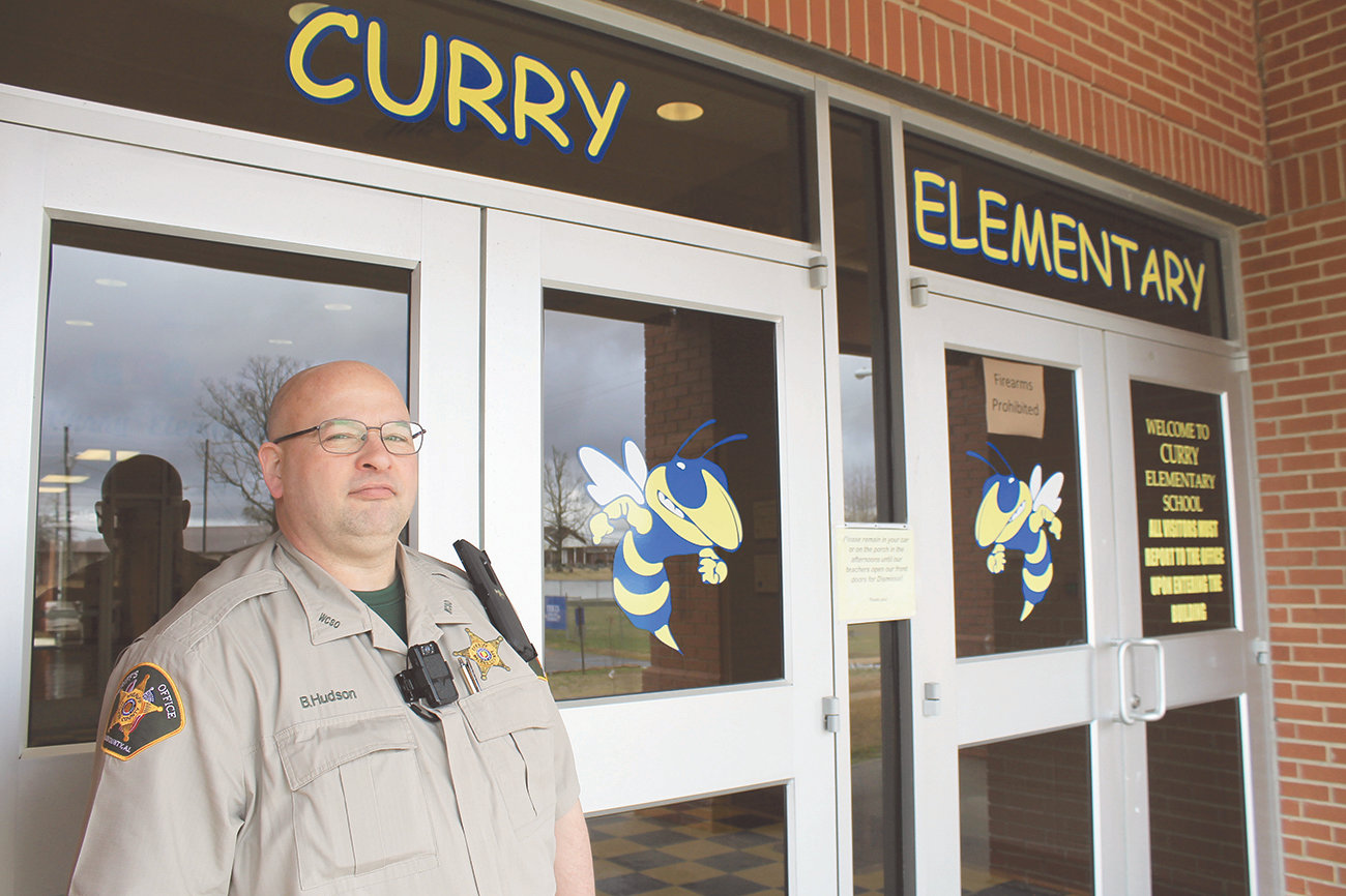 Brent Hudson took over as the new school resource officer in Curry on Feb. 25. He has been at the Walker County Sheriff's Office for 22 and a half years.