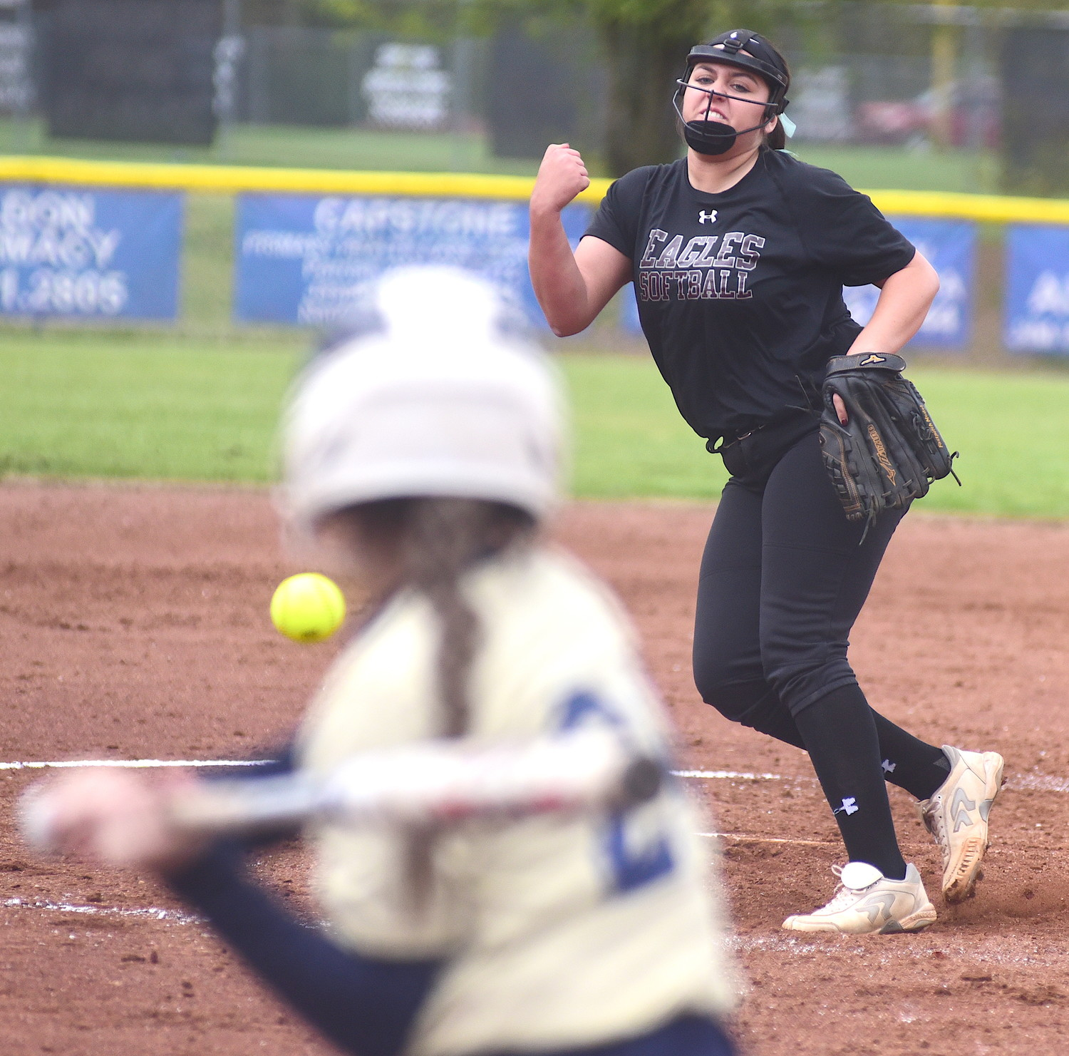 Sumiton Christian's Mak Miller throws a pitch to a Dora batter during the Eagles' 2-0 victory over the Bulldogs in the Bevill State Invitational on Friday. Sumiton Christian is off to a 1-0-1 start after defeating Dora and tying Hueytown.
