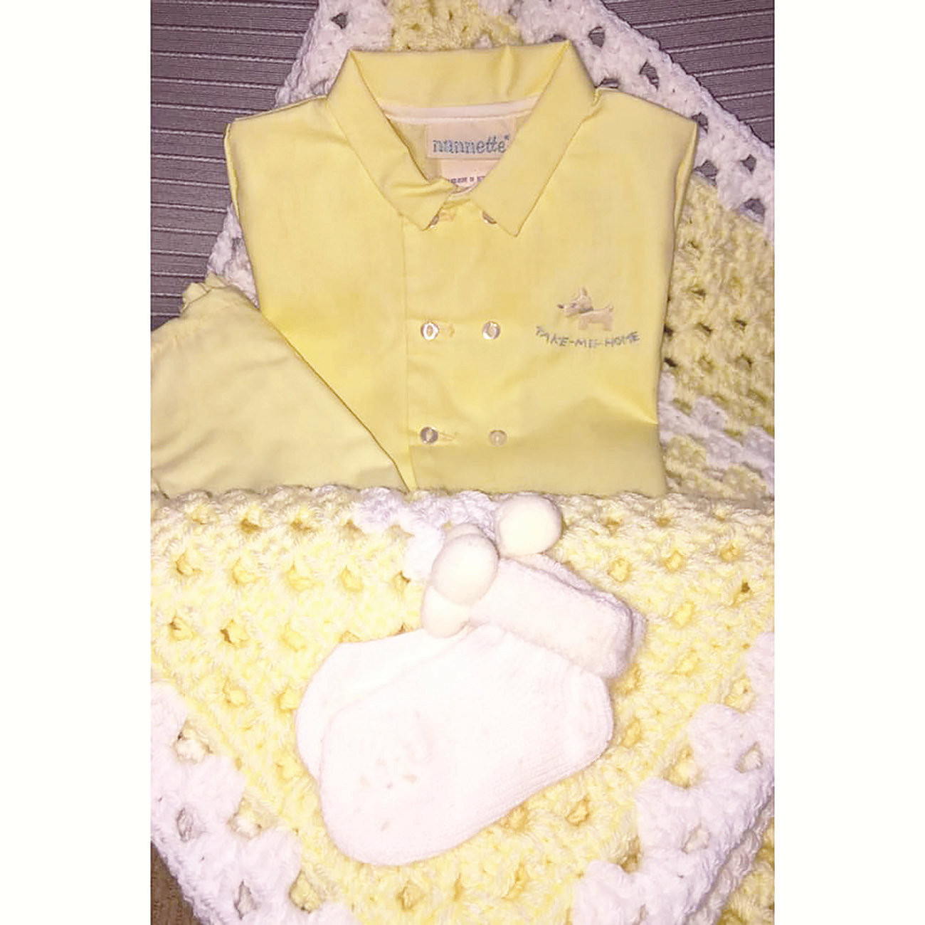 This newborn outfit from over 50 years ago was recently donated to  UAB's neonatal care unit.