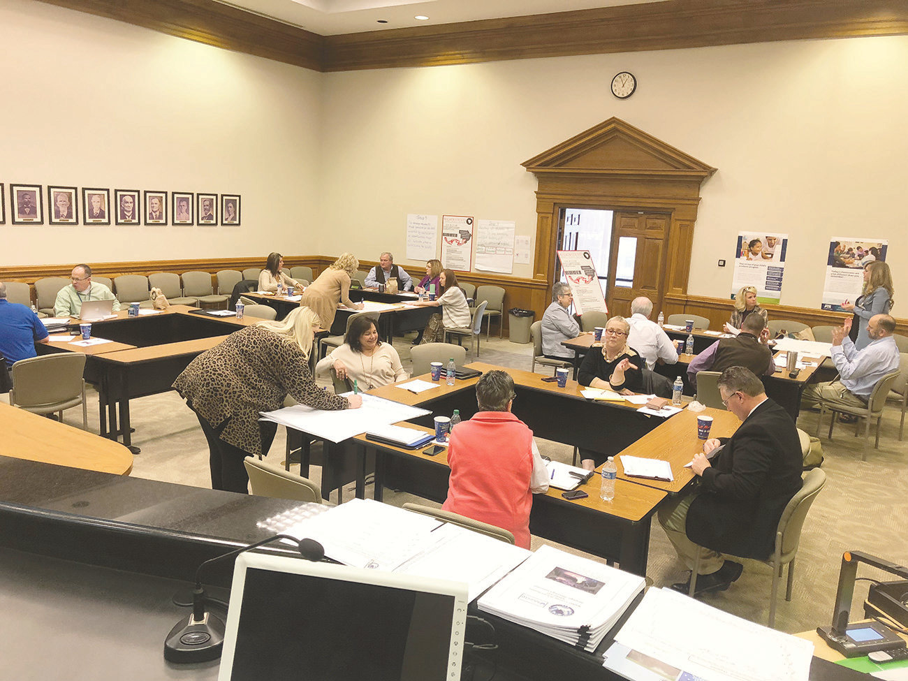 A large group joined at the Walker County Board of Education recently to help develop a strategic plan for the school system moving forward.