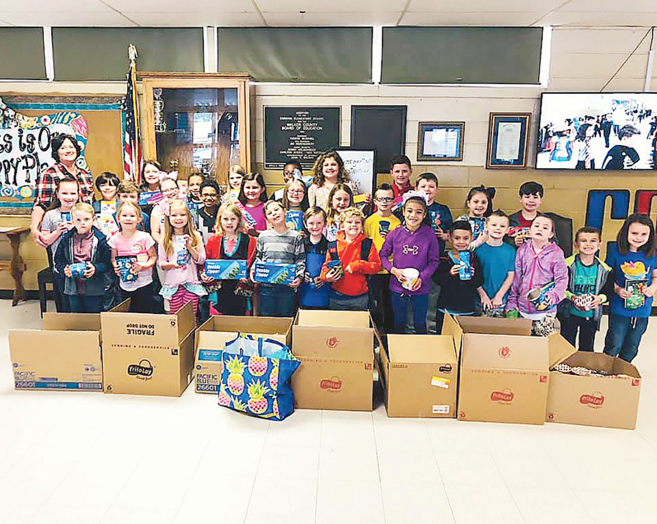 Students at Cordova Elementary School recently collected 1,000 items for disaster relief efforts  in Lee County.