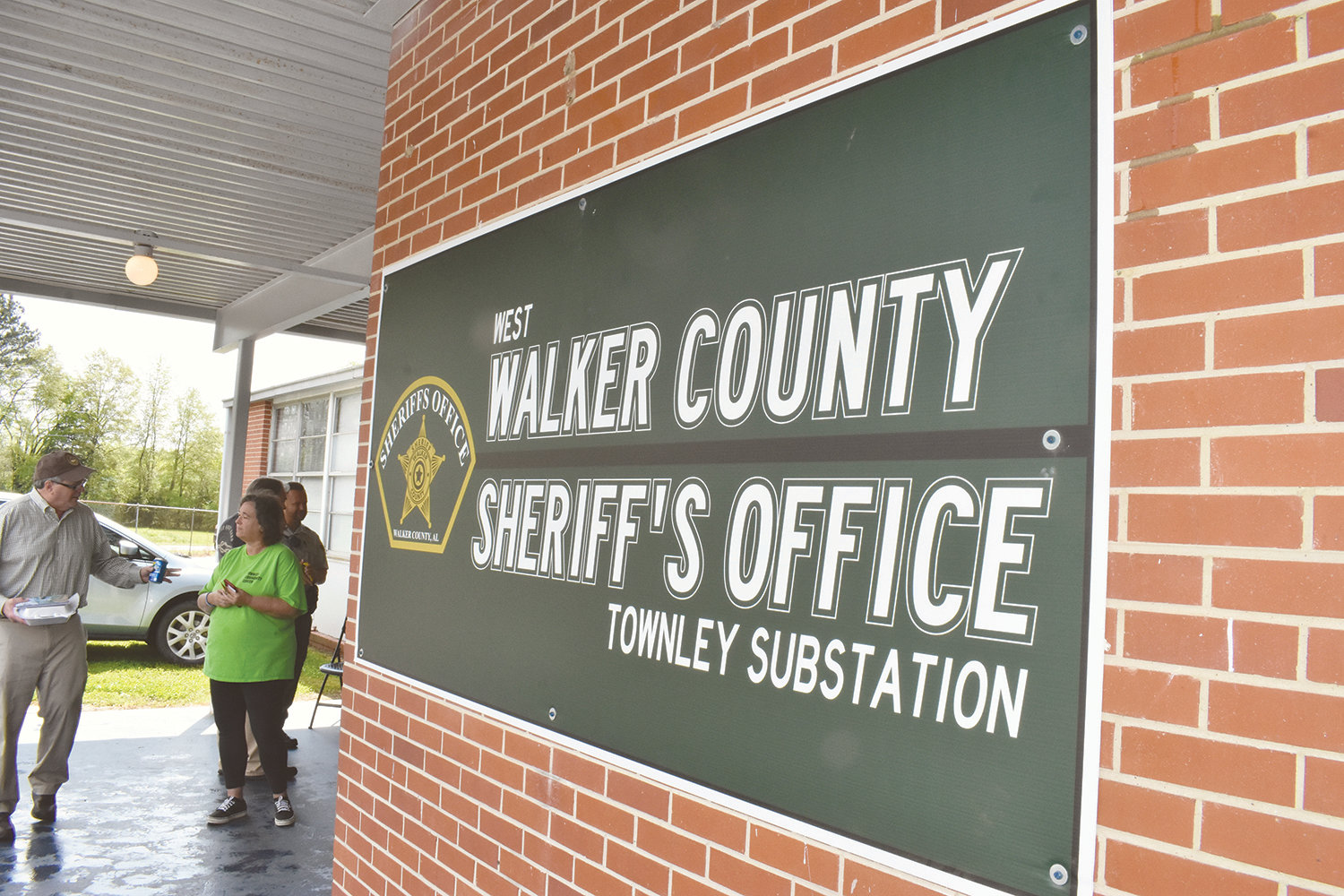 New signage paid for by Walker County Sherif Nick Smith's discretionary fund has been placed at the office's new substation at the Townley Community Center.