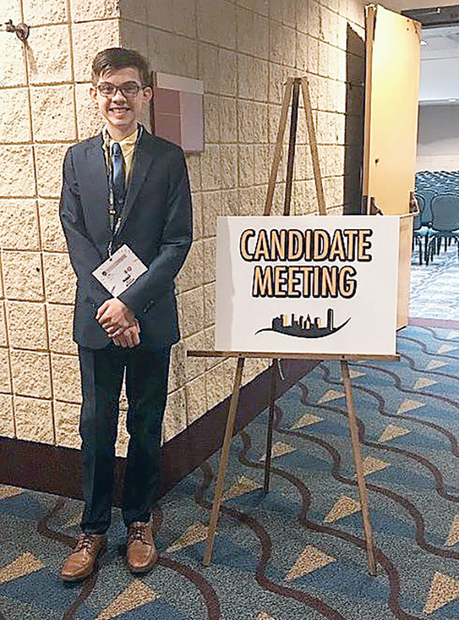 Pictured is Colby Morrison at the Alabama State Beta Club Convention in Birmingham.