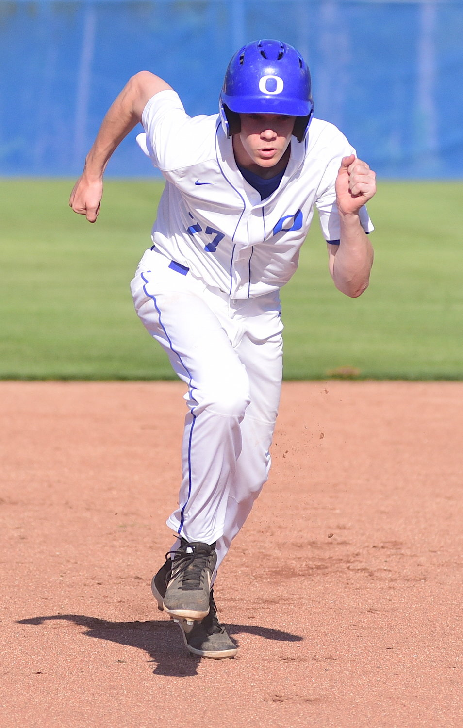 Oakman's Ketch Jones makes his way to third base during the Wildcats' game 3 loss to Hale County on Monday.