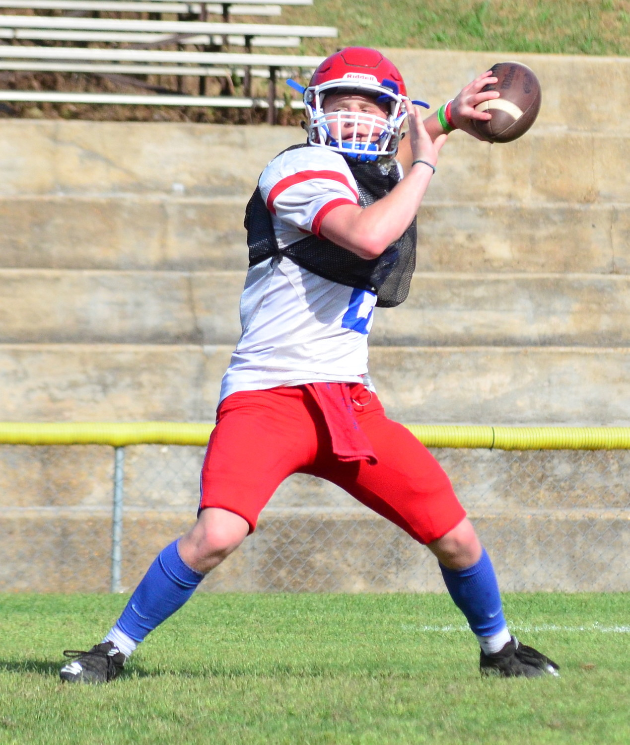 Cordova QB Kason Smith throws a pass during practice on Thursday.