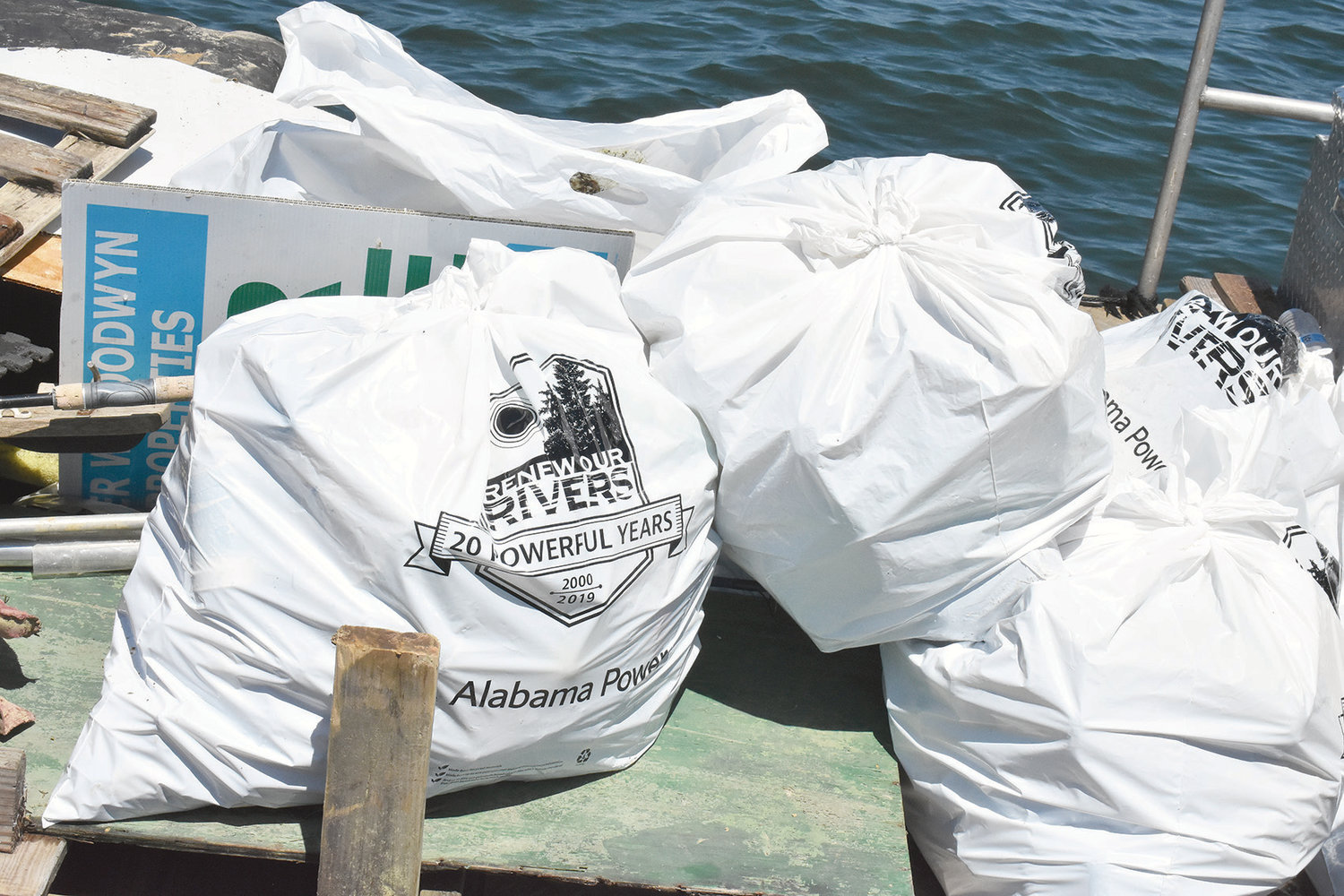 This is some of the garbage and litter picked up at Smith Lake Monday as part of a two-day cleanup that continues today.