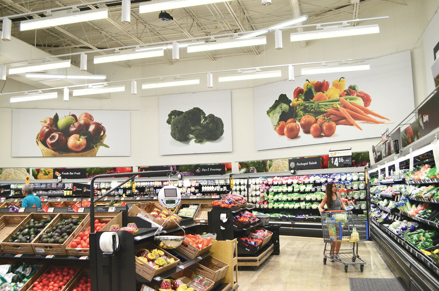 New LED Lights Installed In The Produce Section At Walmart Will Help Fruits And Vegetables Last