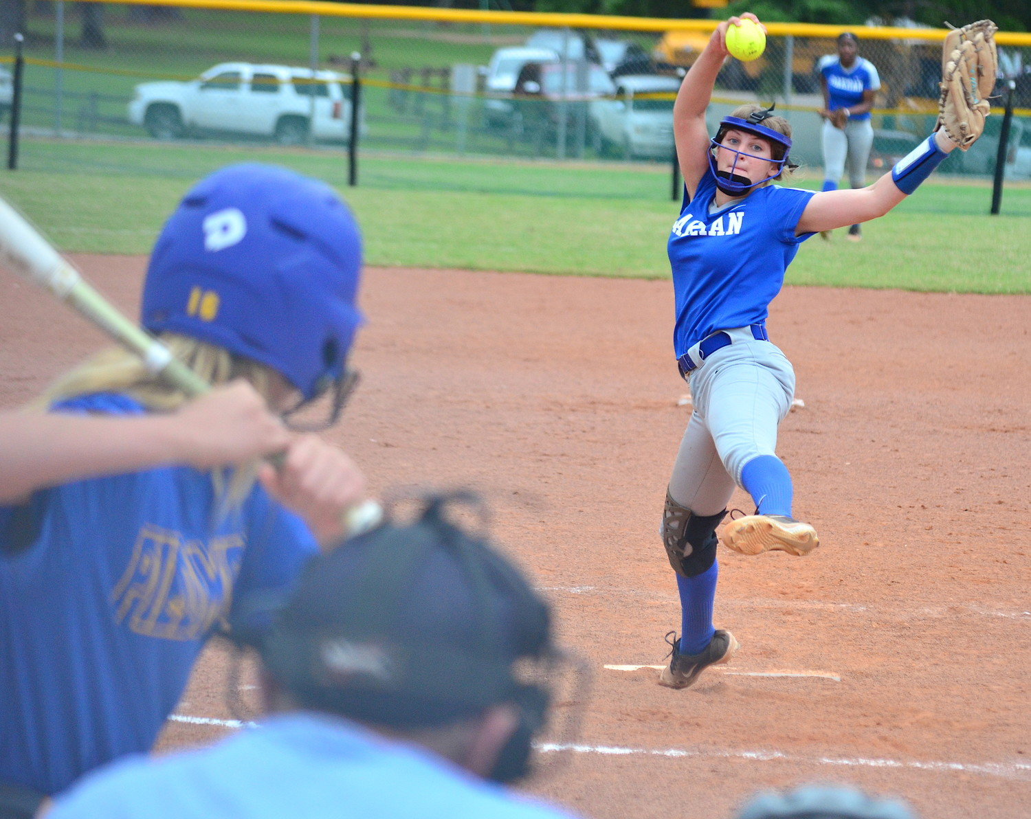 Oakman's Katelyn Makemson throws a pitch to a Piedmont batter during their game on Thursday. The Wildcats are one win away from a state tournament berth.