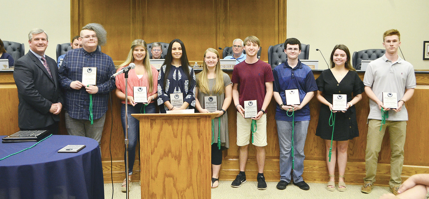 Ten students were honored last Thursday for receiving a 30 or higher on the ACT.