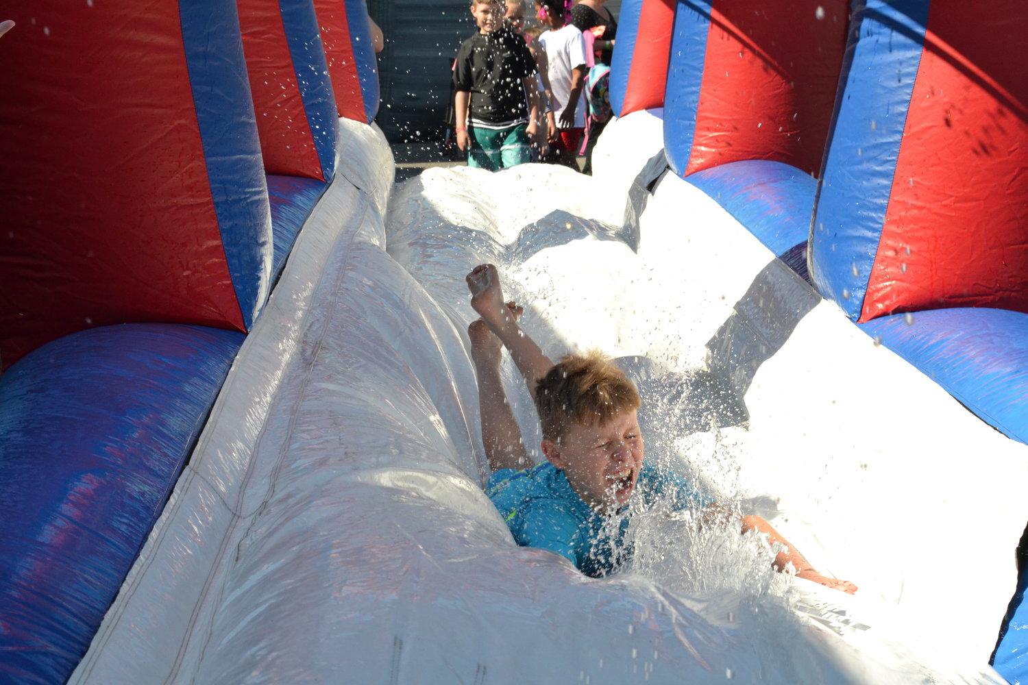 "Staying cool was not a problem for Cordova Elementary students at the school's annual ""May Day"""