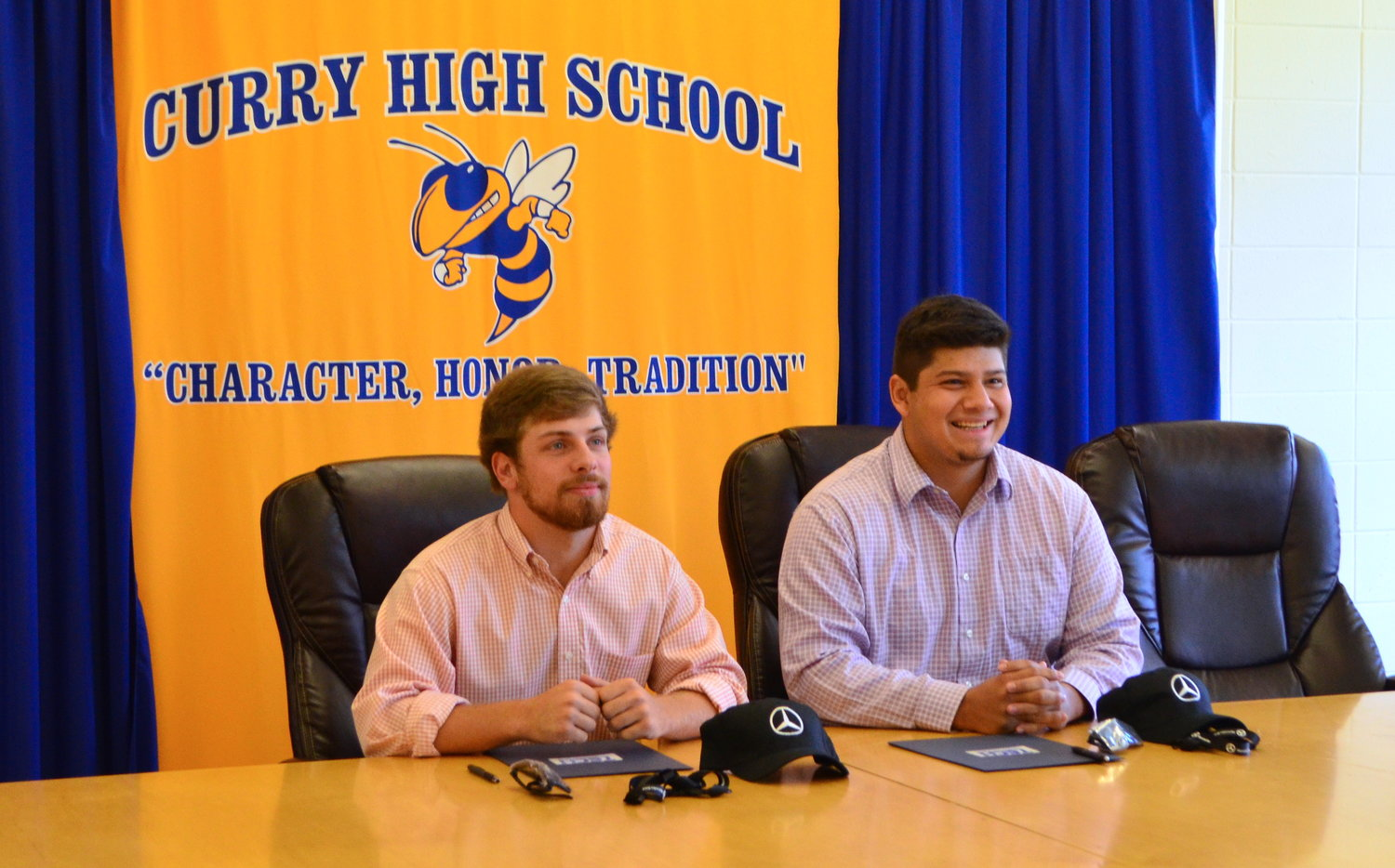 Curry seniors Tristan Jones and Martin Martinez have signed for a career opportunity with Mercedes-Benz.