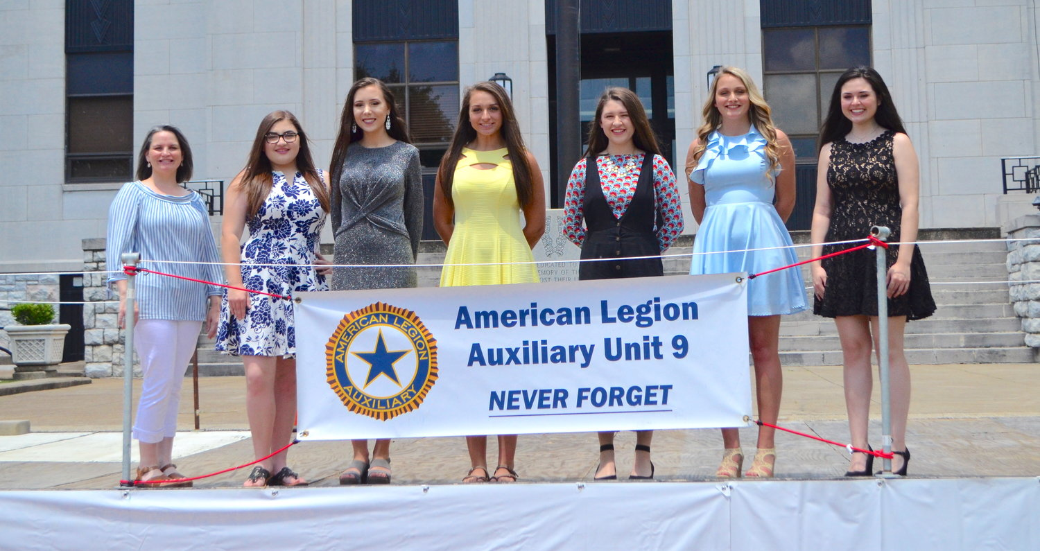 Pictured are this year's Girls State delegates from Walker County. From left to right, Morgan Skelton, chairwoman of the Girls State committee, joins Larken Box of Sumiton Christian High School, Kallie Capkovic of Oakman High School, Laycee Cordell of Curry High School, Lorin O'Rear of Jasper High School, Courtney Stone of Dora High School and Jillian Welch of Jasper High School. Not pictured is Chelsea Smith of Cordova High School.