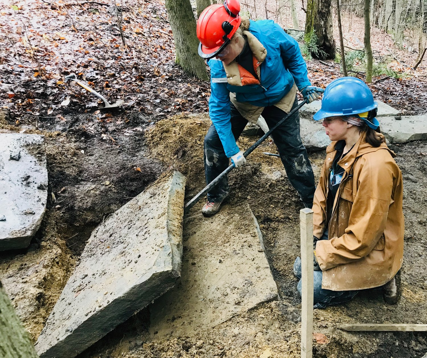 Elyse Peters of the Walker County Health Action Partnership got some firsthand experience in stonework as an Emerging Trail Leader at the recent International Trails Symposium.