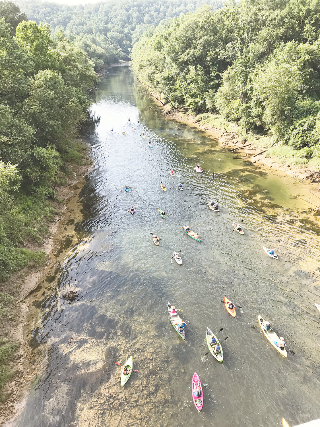 More than 50 people participated in last year's Sipsey River Race. This year's event, set for June 22, has been canceled because the water is not safe for human recreation.