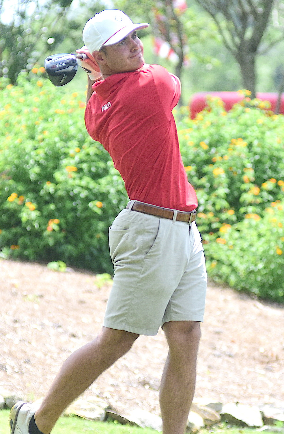 Sam Goldasich shot a 67 on Saturday and is tied for the lead going into today's final round of the Travis Hudson/Bernard Weinstein Invitational at Musgrove Country Club.