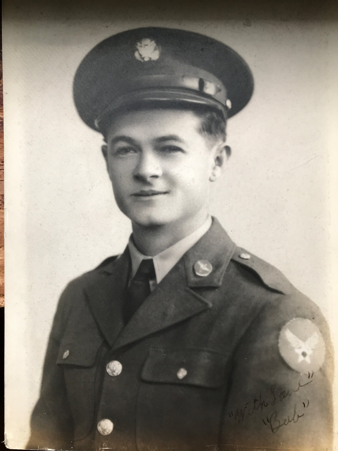 Bob Hester in uniform during World War II.
