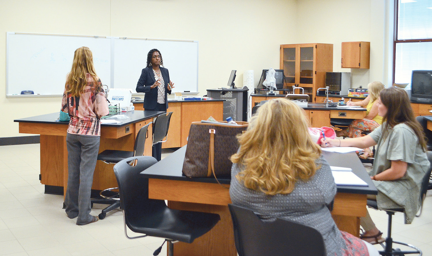 Bevill State Community College held a Professional Development Day on Monday at the Jasper campus to welcome educators for the upcoming fall semester, which beings Thursday. Pictured is a seminar that was held on Monday at the college.