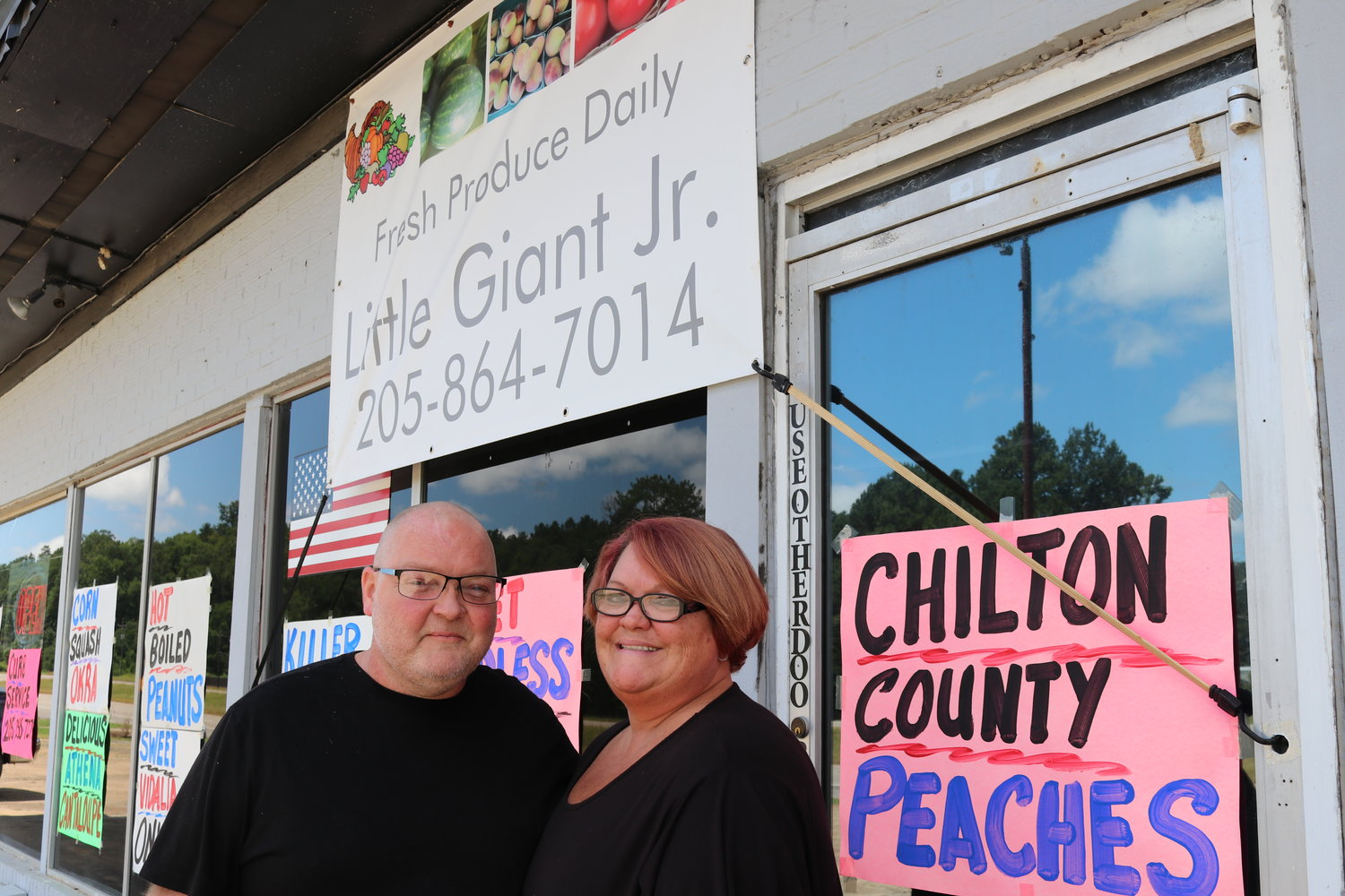 Jon and Alison Phillips opened Little Giant Jr. Farm Market in July. The produce market is in Rocky Hollow on Hwy. 78 in Sumiton.